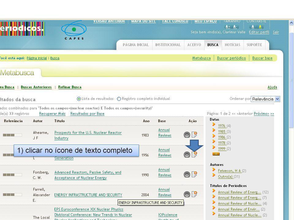 2) No menu à esquerda, clicar no link EndNote Web em Exportar Referências .