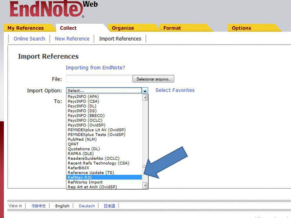 1) Clique no título do registro de interesse para visualização do registro completo Também é possível guardar o registro completo com os seguintes passos: