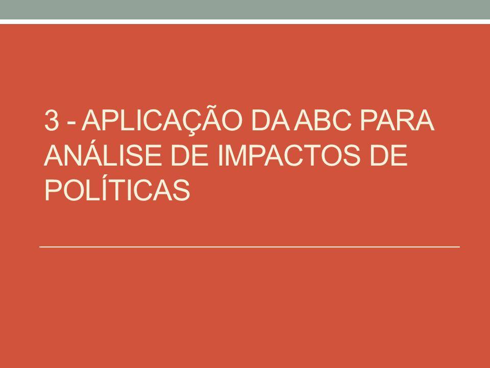 3 - APLICAÇÃO DA ABC PARA ANÁLISE DE IMPACTOS DE POLÍTICAS