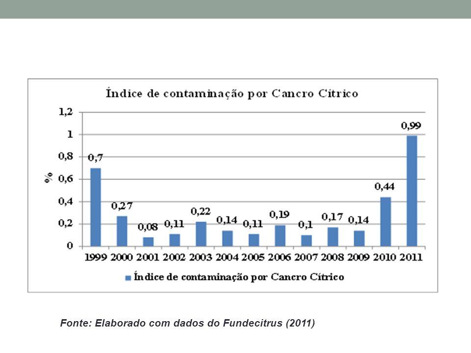 Fonte: Elaborado com dados do Fundecitrus (2011)