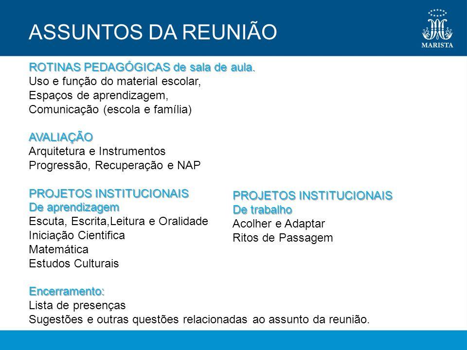 ROTINAS PEDAGÓGICAS de sala de aula: uso e função do material escolar.