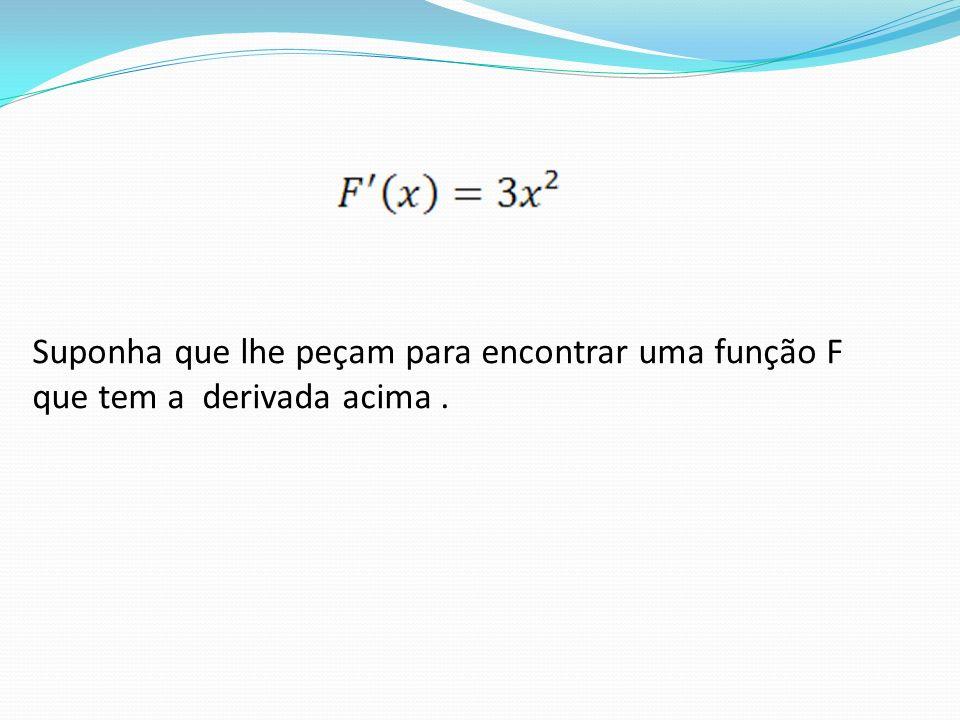 Suponha que lhe peçam para encontrar uma função F que tem a derivada acima.