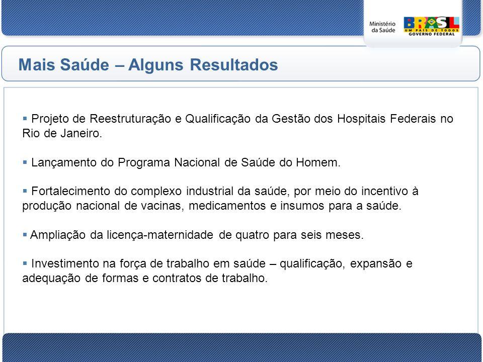 Projeto de Reestruturação e Qualificação da Gestão dos Hospitais Federais no Rio de Janeiro.