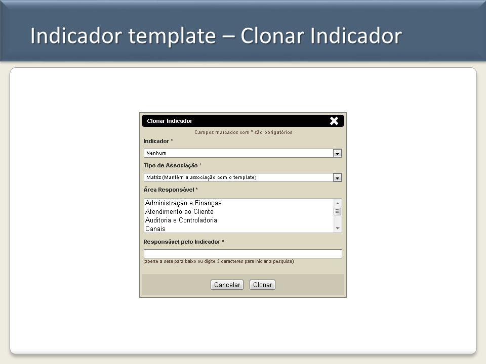 Indicador template – Clonar Indicador
