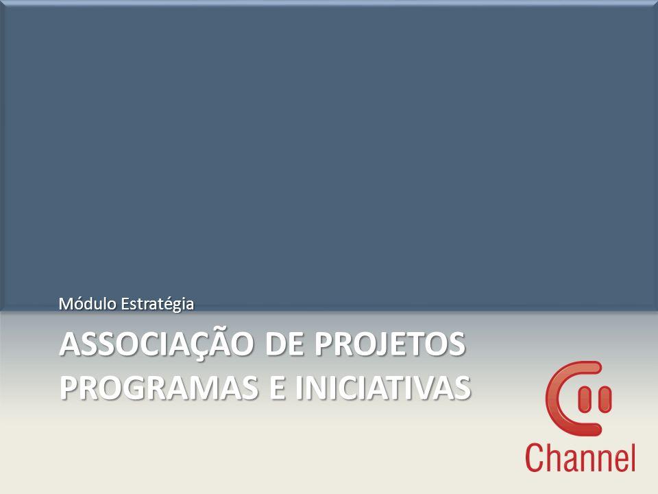 ASSOCIAÇÃO DE PROJETOS PROGRAMAS E INICIATIVAS Módulo Estratégia