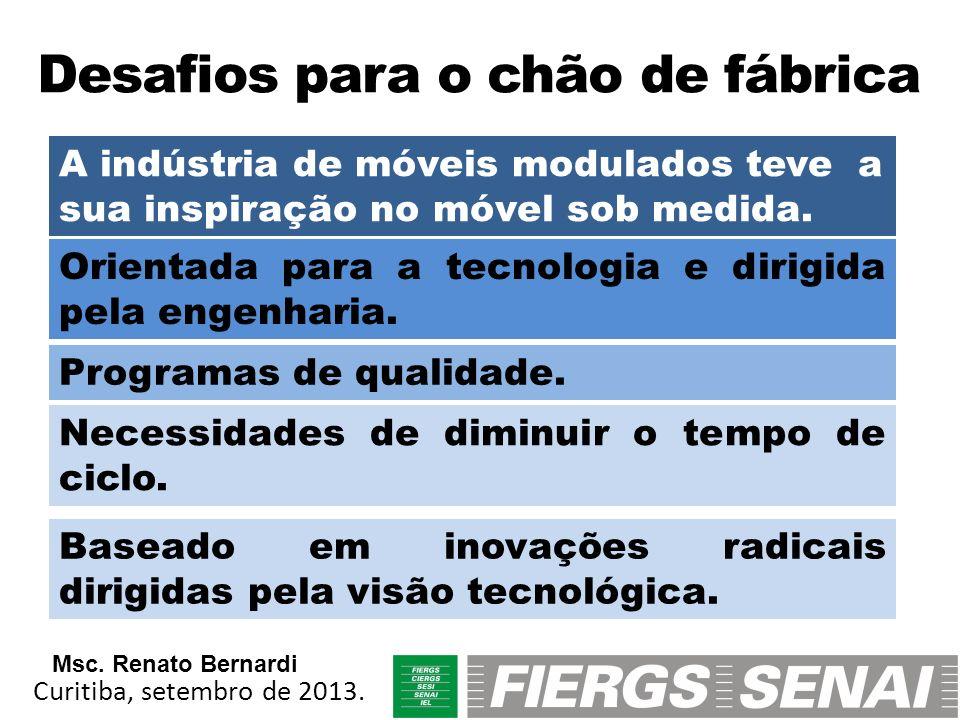 Desafios para o chão de fábrica A indústria de móveis modulados teve a sua inspiração no móvel sob medida. Orientada para a tecnologia e dirigida pela