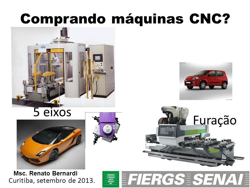 Comprando máquinas CNC? 5 eixos Furação Curitiba, setembro de 2013. Msc. Renato Bernardi