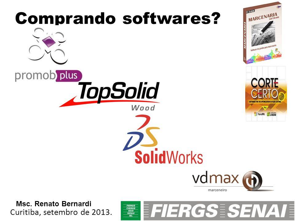 Comprando softwares? Curitiba, setembro de 2013. Msc. Renato Bernardi