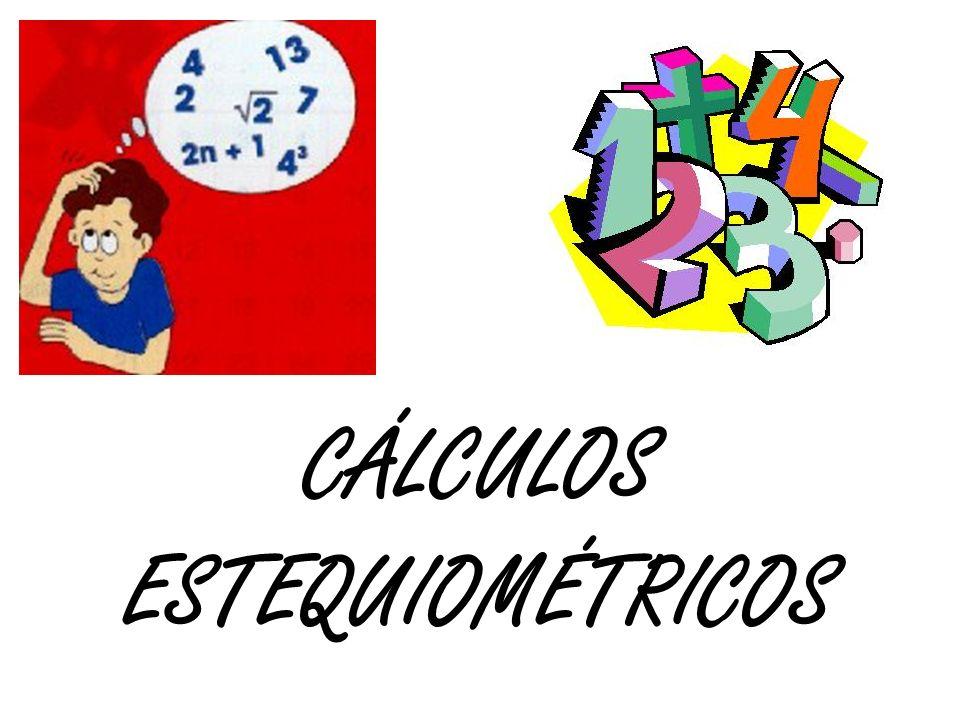 Passos básicos para resolução de exercícios que envolvem cálculos estequiométricos: Montar a equação química da reação enunciada e acertar corretamente seus coeficientes estequiométricos.