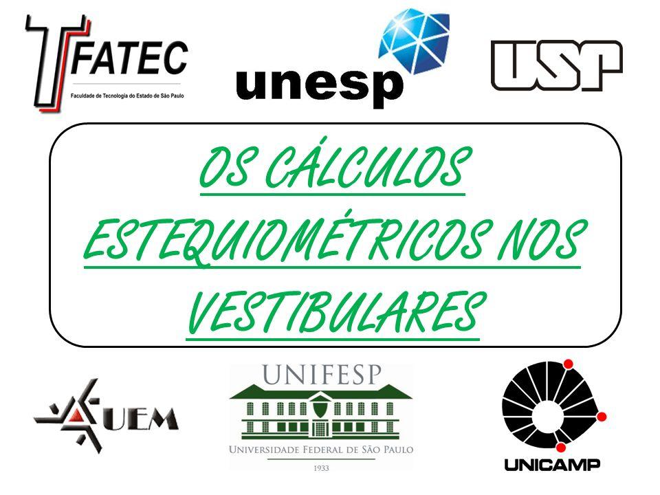 (FATEC – SP - 2010) - Faculdade de Tecnologia de São Paulo O cheiro forte da urina humana deve-se principalmente à amônia, formada pela reação química que ocorre entre ureia, CO(NH 2 ) 2, e água: CO(NH 2 ) 2(aq) + H 2 O () CO 2(g) + 2.NH 3(g) O volume de amônia, medido nas CATP (Condições Ambiente de Temperatura e Pressão), formado quando 6,0 g de ureia reagem completamente com água é, em litros,: Dados: Volume molar nas CATP = 25 L.