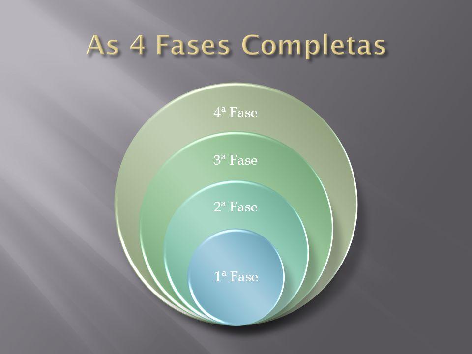 4ª Fase 3ª Fase 2ª Fase 1ª Fase