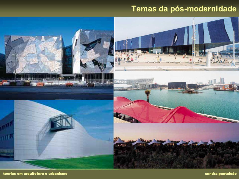 Temas da pós-modernidade teorias em arquitetura e urbanismo sandra pantaleão