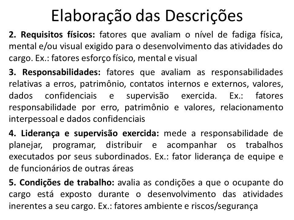 Elaboração das Descrições 2.