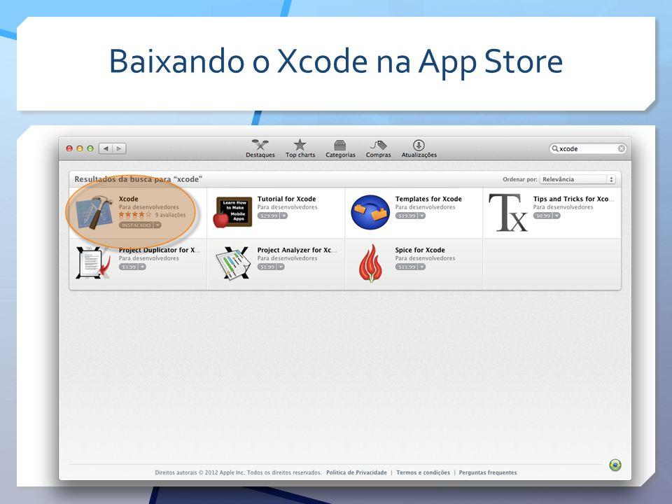 Baixando o Xcode na App Store