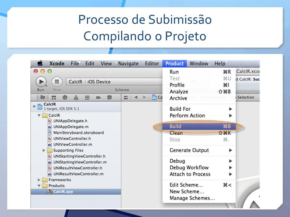 Processo de Subimissão Compilando o Projeto
