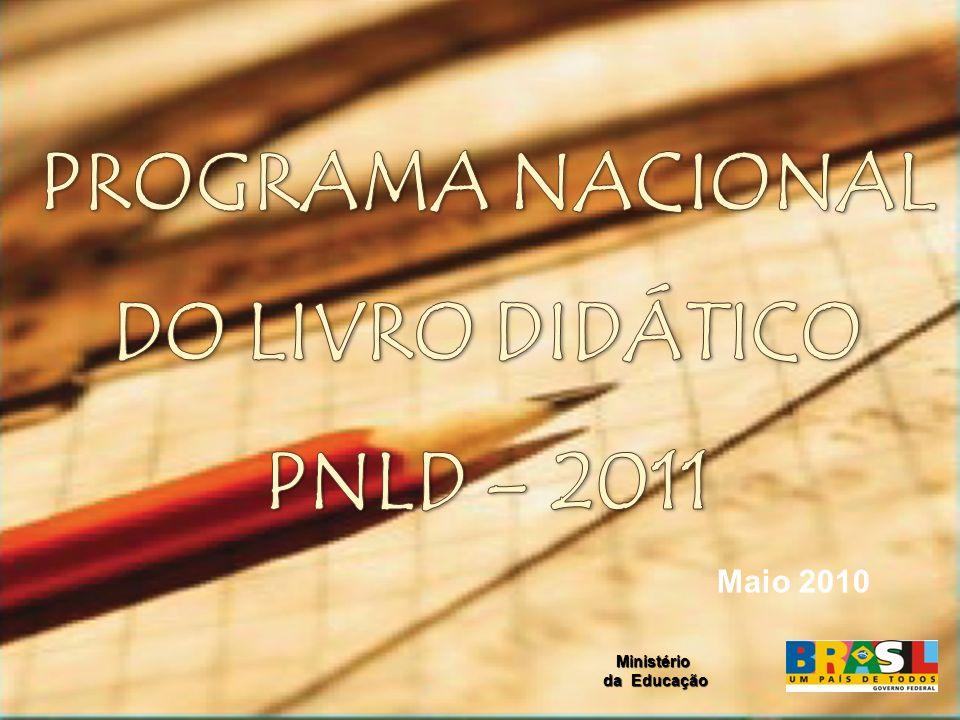 Neste ano de 2010, as escolas farão a escolha dos livros didáticos para o Ensino Fundamental II (6º ao 9º ano), que serão utilizados dos anos de 2011 a 2013.