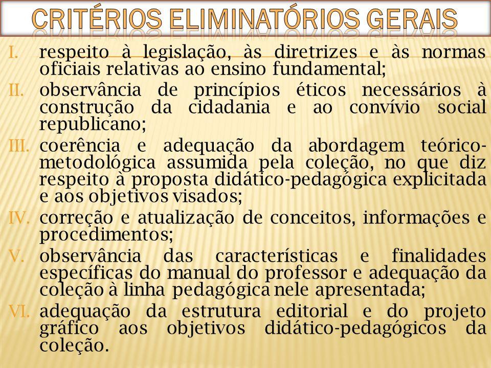 I. respeito à legislação, às diretrizes e às normas oficiais relativas ao ensino fundamental; II. observância de princípios éticos necessários à const