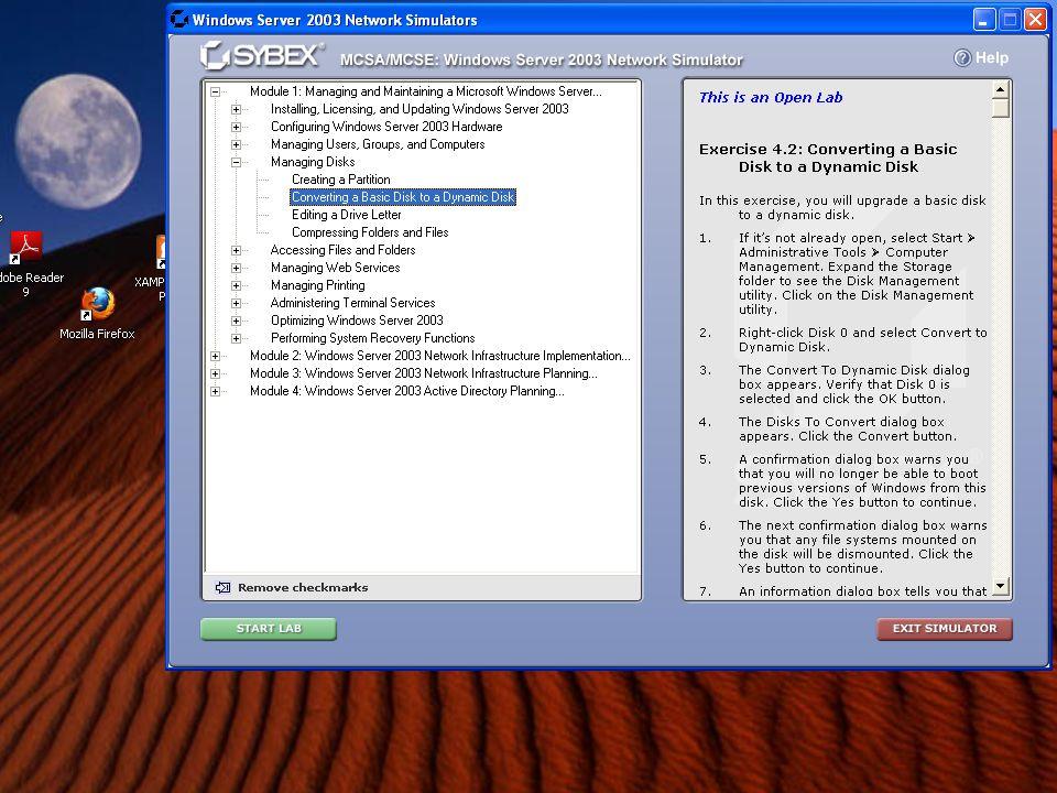 Basic to Dynamic Step 2 Clique no menu Start, Administrative Tools, Computer Management.