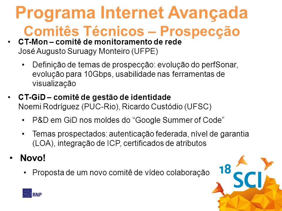 Programa Internet Avançada Comitês Técnicos – Prospecção CT-Mon – comitê de monitoramento de rede José Augusto Suruagy Monteiro (UFPE) Definição de te