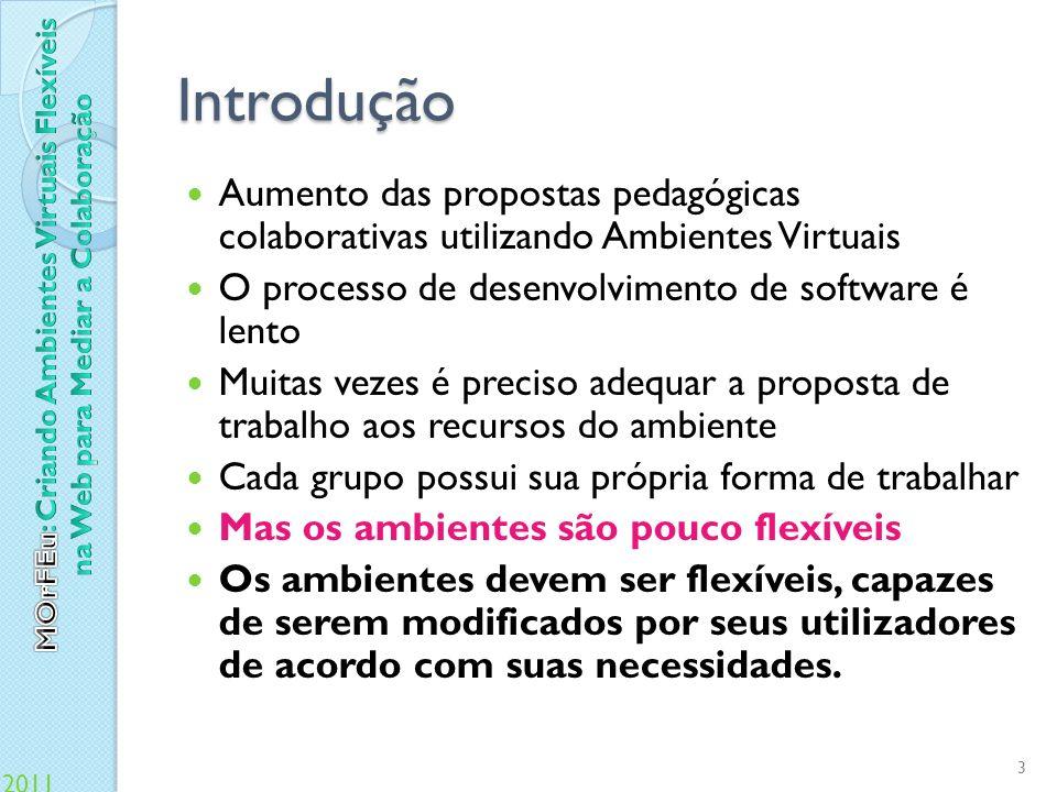 2011 Multi-Organizador Flexível para Espaços Virtuais (Menezes, 2008) Um conjunto de interações dentro de um ambiente virtual resulta em um documento.