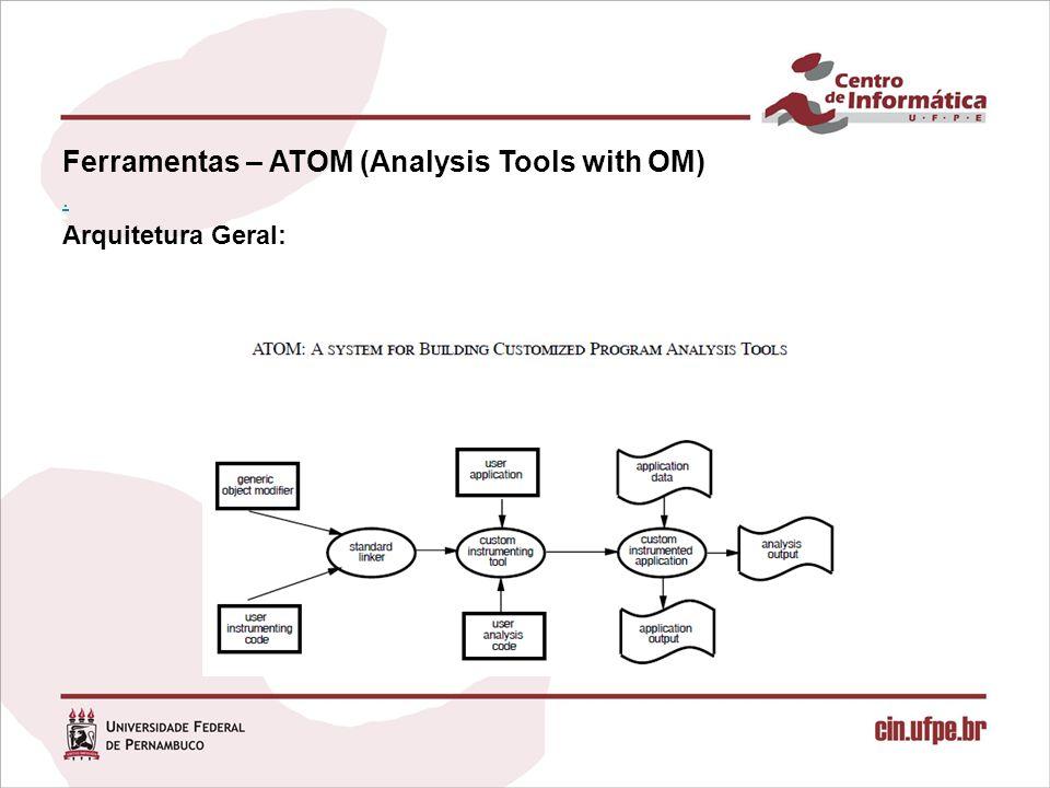 Ferramentas – ATOM (Analysis Tools with OM). Arquitetura Geral: