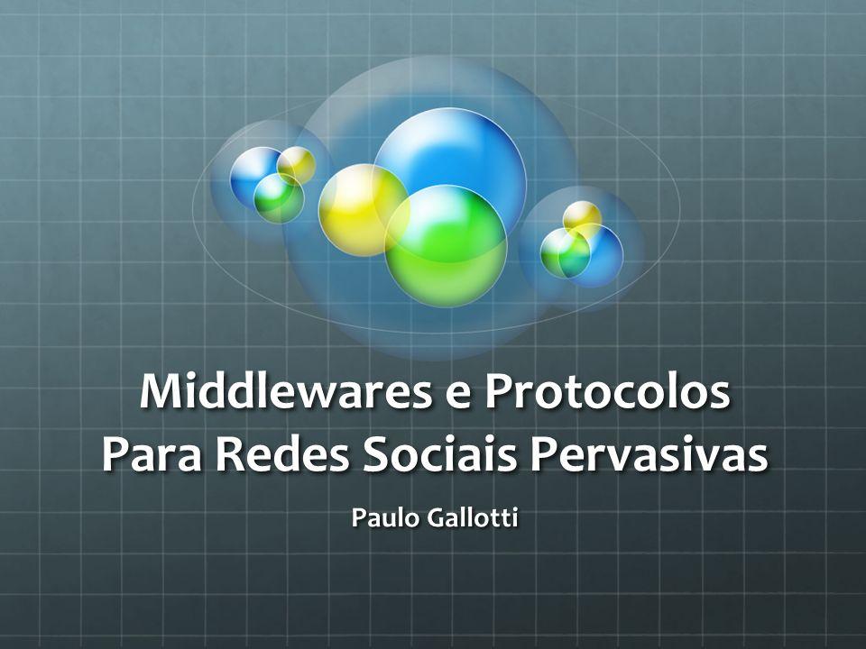 Middlewares e Protocolos Para Redes Sociais Pervasivas Paulo Gallotti