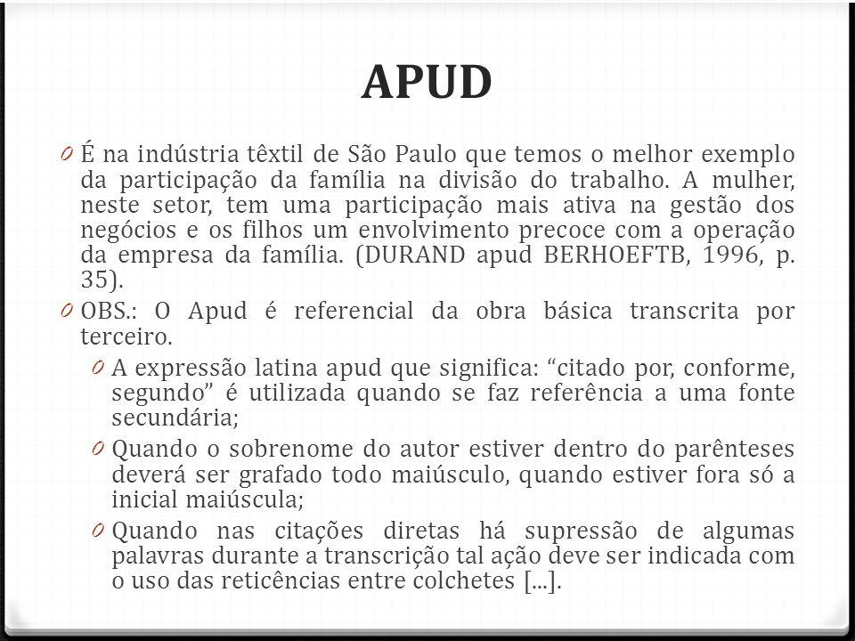 APUD 0 É na indústria têxtil de São Paulo que temos o melhor exemplo da participação da família na divisão do trabalho. A mulher, neste setor, tem uma
