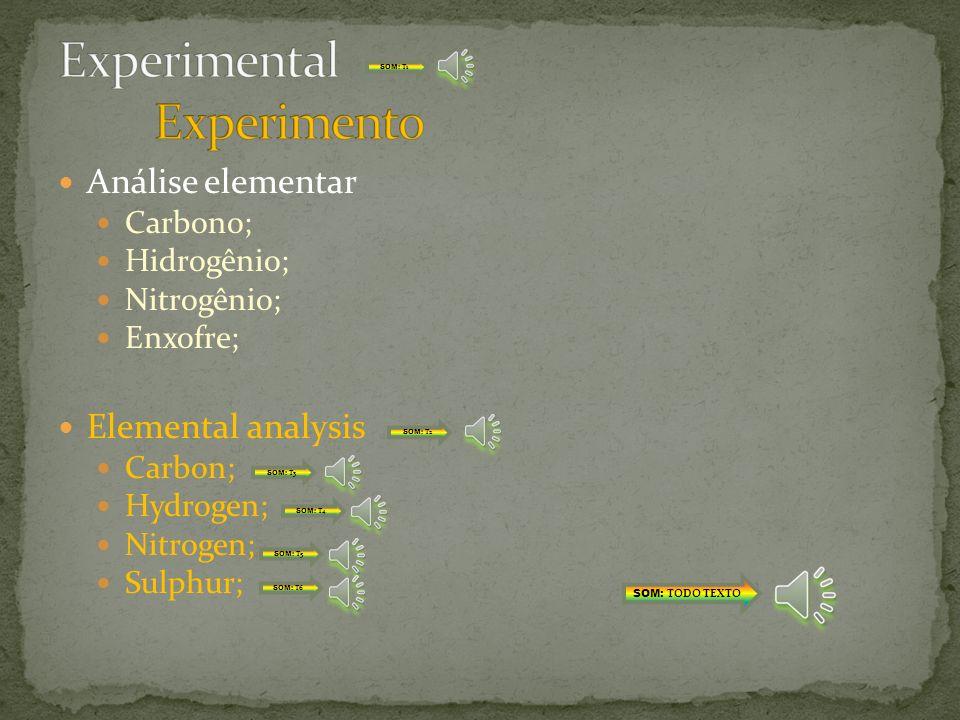 Análise química: Teor de materiais voláteis; Teor de carbono fixo; Teor de cinzas; Chemical analysis: Volatile matter content; Fixed carbon content; Ash content; SOM: TODO TEXTO SOM: T1 SOM: T2 SOM: T3 SOM: T4 SOM: T5