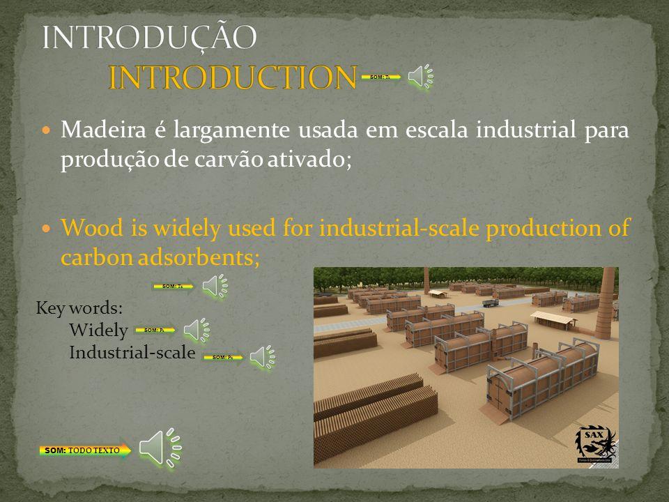 Carvão vegetal é um termo tradicional para um carvão obtido da madeira; Charcoal is a traditional term for a char obtained from wood; Key words: Char Obtained SOM: TODO TEXTO SOM: T1 SOM: T2 SOM: P1 SOM: P2