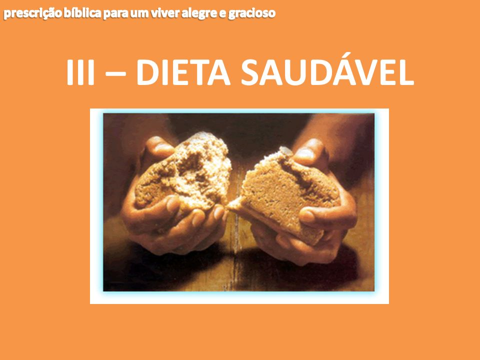 III – DIETA SAUDÁVEL