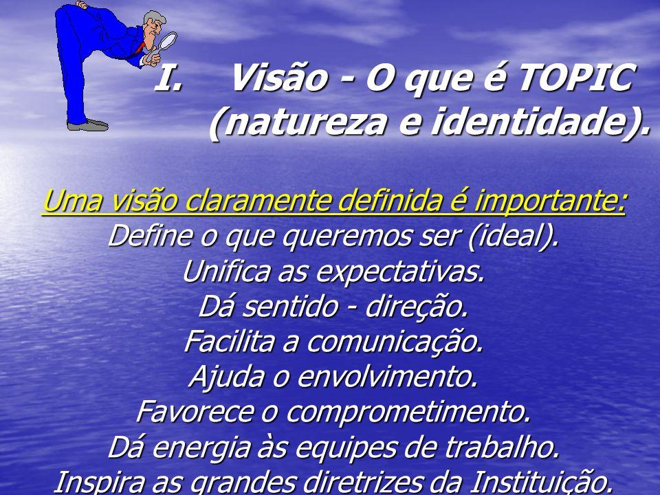 I.Visão - O que é TOPIC (natureza e identidade).