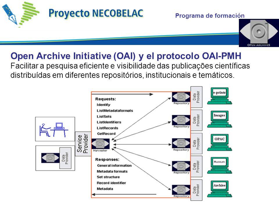 Programa de formación Open Archive Initiative (OAI) y el protocolo OAI-PMH Facilitar a pesquisa eficiente e visibilidade das publicações científicas d