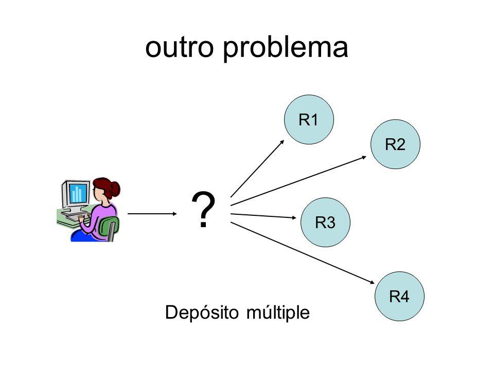 outro problema R3 R4 R2 R1 ? Depósito múltiple