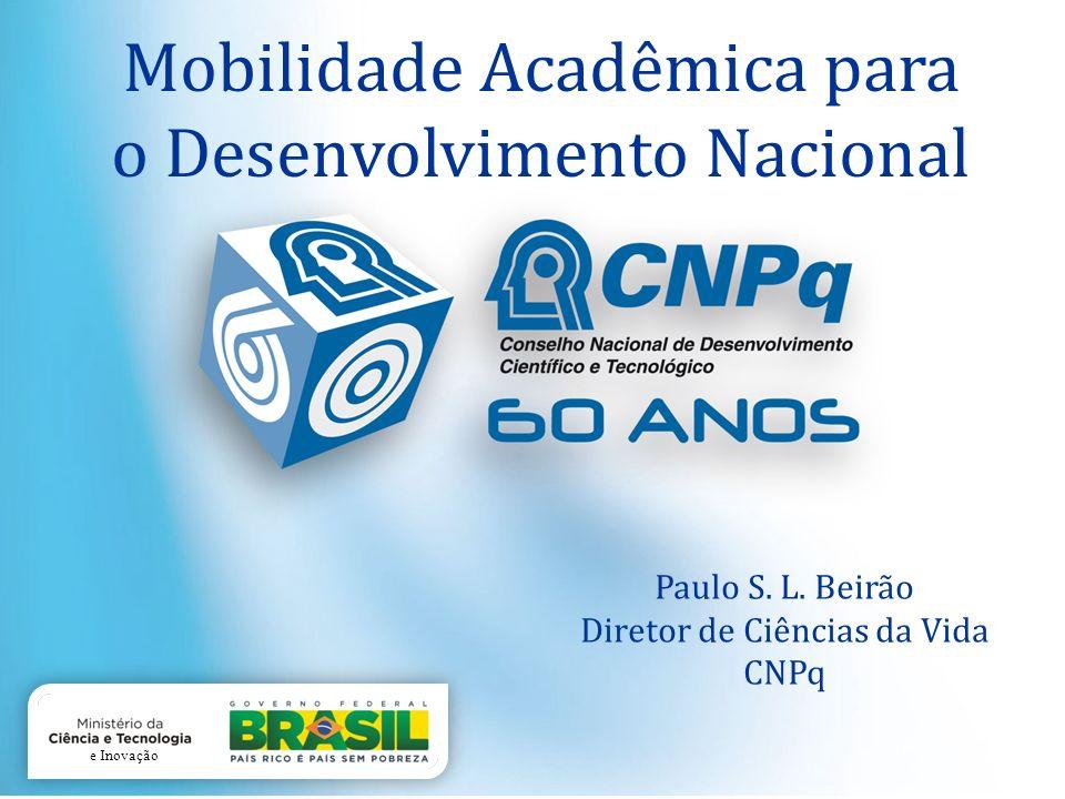 Paulo S. L. Beirão Diretor de Ciências da Vida CNPq Mobilidade Acadêmica para o Desenvolvimento Nacional e Inovação