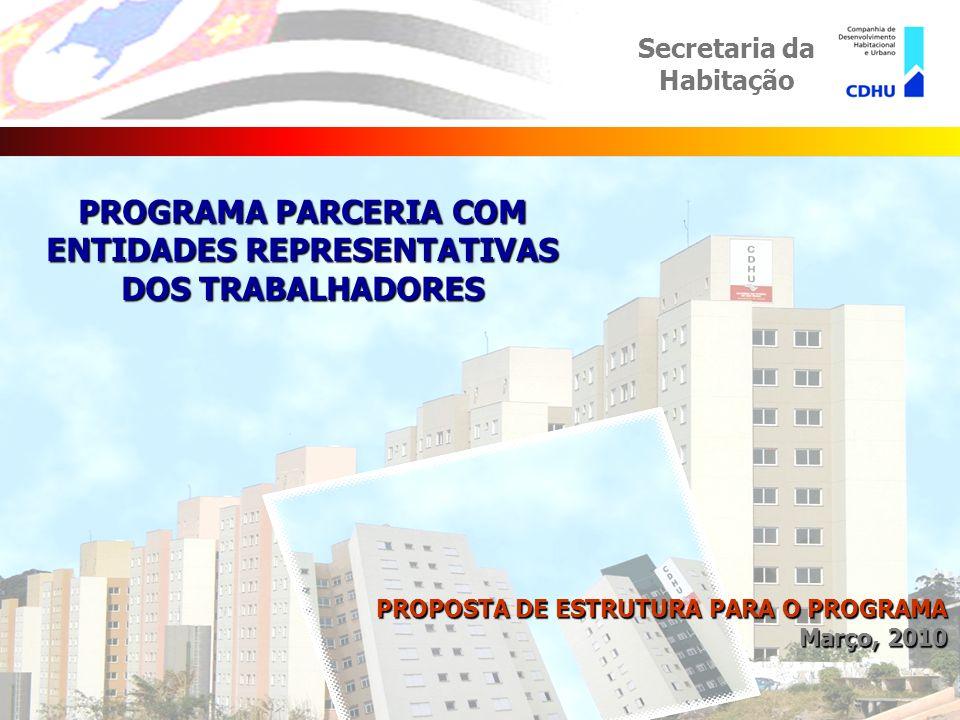 eseiler PARCERIA COM ENTIDADES REPRESENTATIVAS DOS TRABALHADORES Secretaria da Habitação 1.