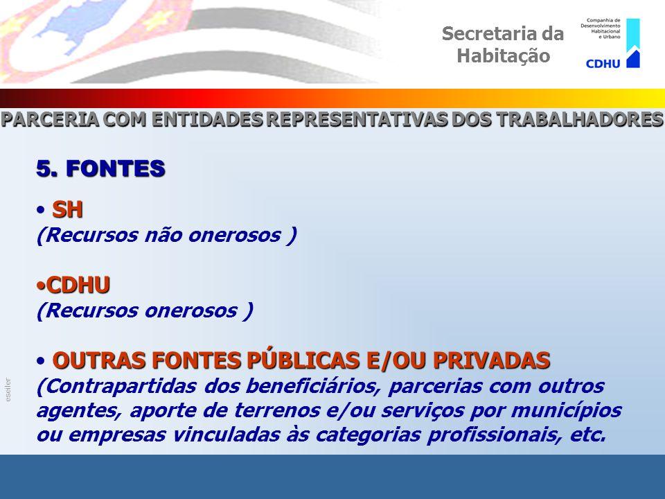 eseiler PROGRAMA PARCERIA COM ENTIDADES REPRESENTATIVAS DOS TRABALHADORES Secretaria da Habitação 5.