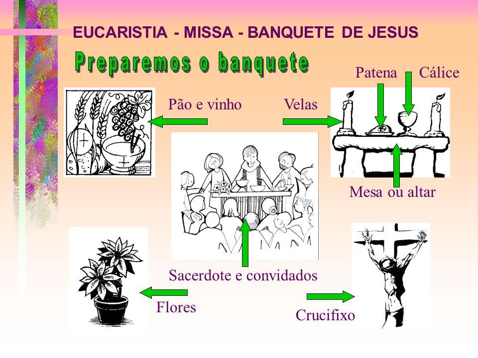 EUCARISTIA - MISSA - BANQUETE DE JESUS A - PEÇAMOS PERDÃO PELAS NOSSAS FALTAS Vamos limpos ao banquete de Jesus, com os outros cristãos RITO DE ABERTURA 1a.