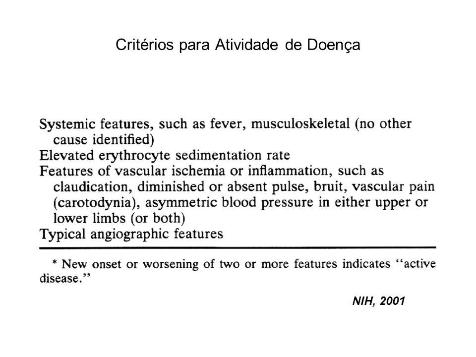 Critérios para Atividade de Doença NIH, 2001