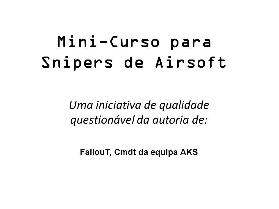 Mini-Curso para Snipers de Airsoft Uma iniciativa de qualidade questionável da autoria de: FallouT, Cmdt da equipa AKS