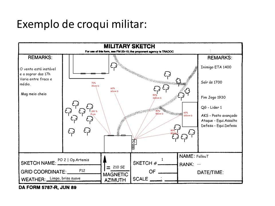 Exemplo de croqui militar: