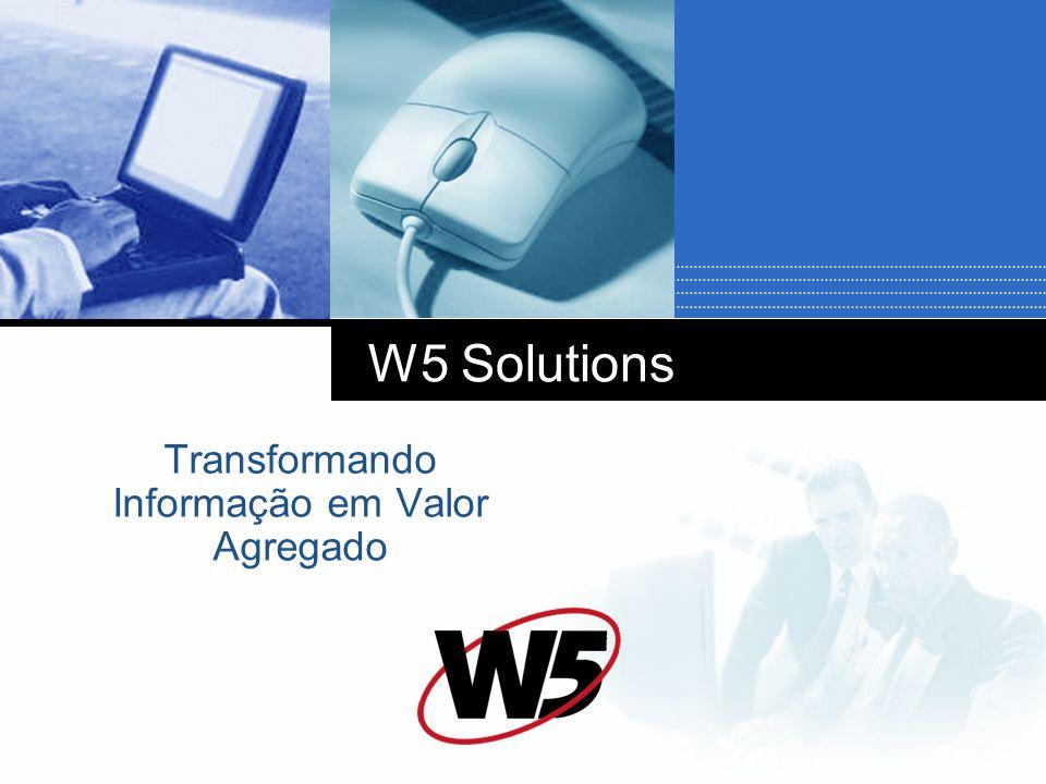 W5 Solutions Transformando Informação em Valor Agregado