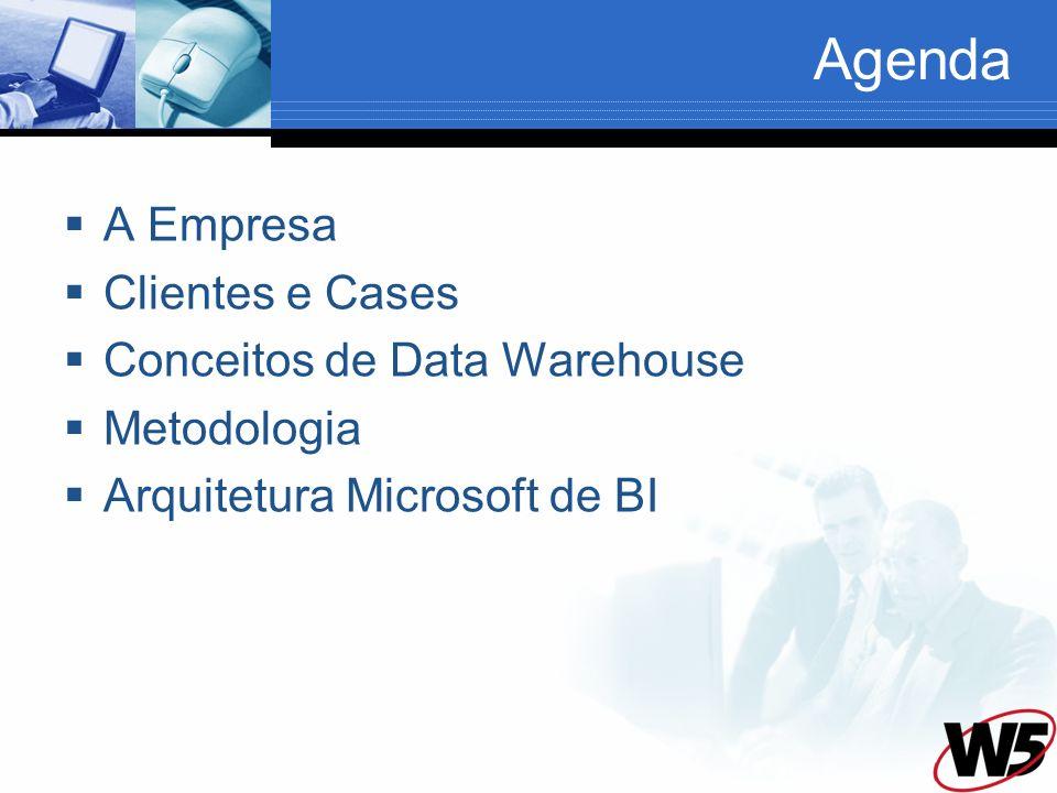 Agenda A Empresa Clientes e Cases Conceitos de Data Warehouse Metodologia Arquitetura Microsoft de BI