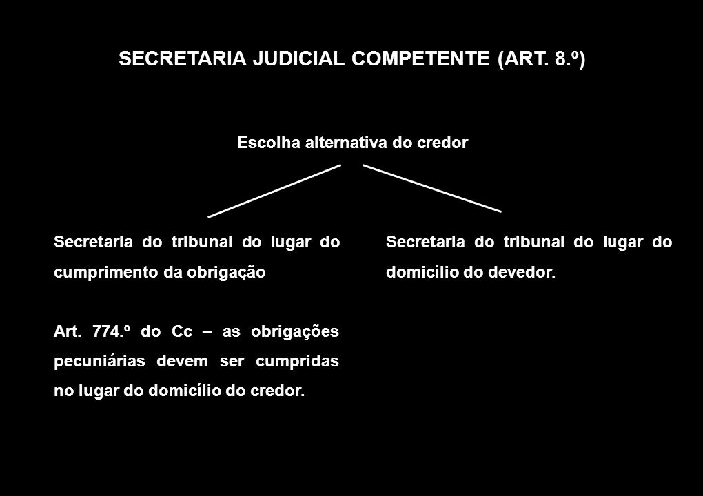 SECRETARIA JUDICIAL COMPETENTE (ART.