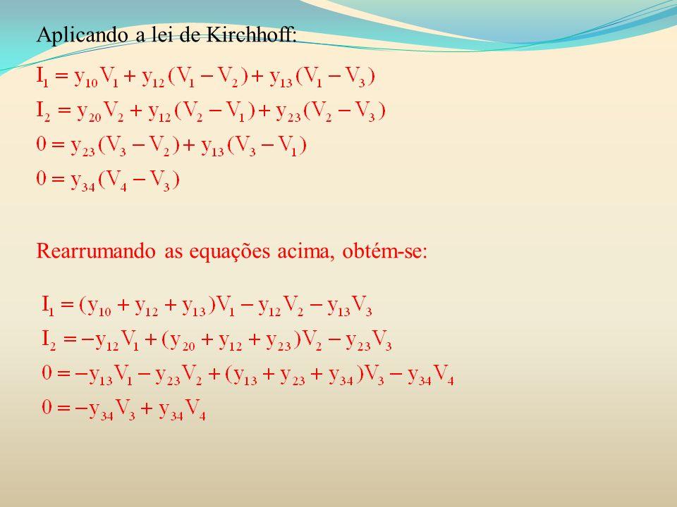O fluxo de potência reativa nas linhas pode ser calculado pelas seguintes fórmulas: O cálculo do fluxo de potência na linha 2-3 :