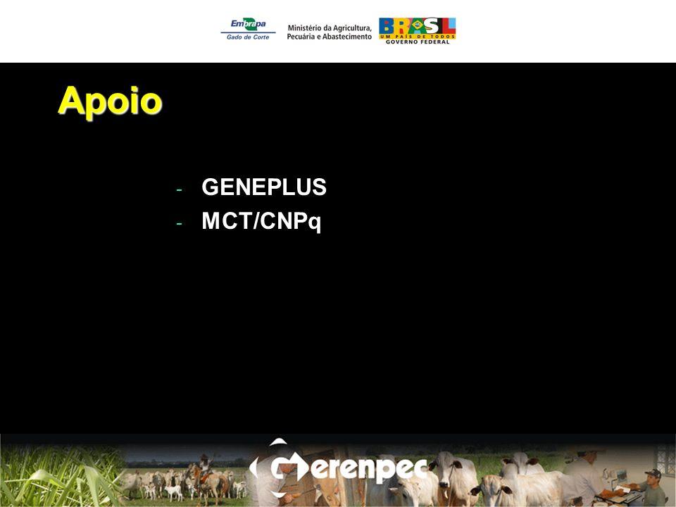 Apoio - GENEPLUS - MCT/CNPq