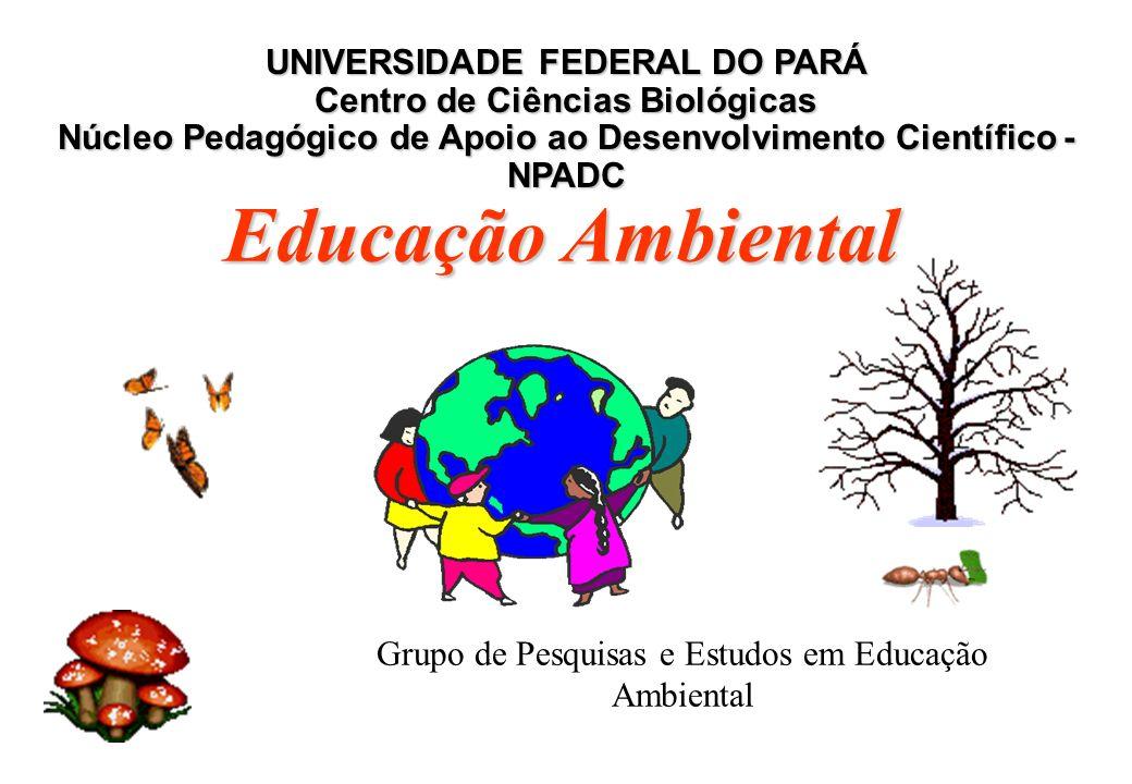 Grupo de Pesquisas e Estudos em Educação Ambiental UNIVERSIDADE FEDERAL DO PARÁ Centro de Ciências Biológicas Núcleo Pedagógico de Apoio ao Desenvolvimento Científico - NPADC Educação Ambiental