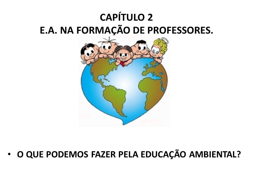 CAPÍTULO 2 E.A. NA FORMAÇÃO DE PROFESSORES. O QUE PODEMOS FAZER PELA EDUCAÇÃO AMBIENTAL?