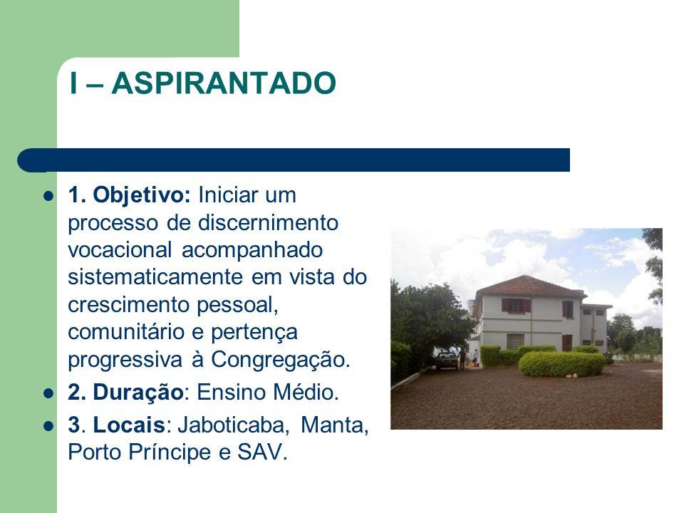 I – ASPIRANTADO 1.
