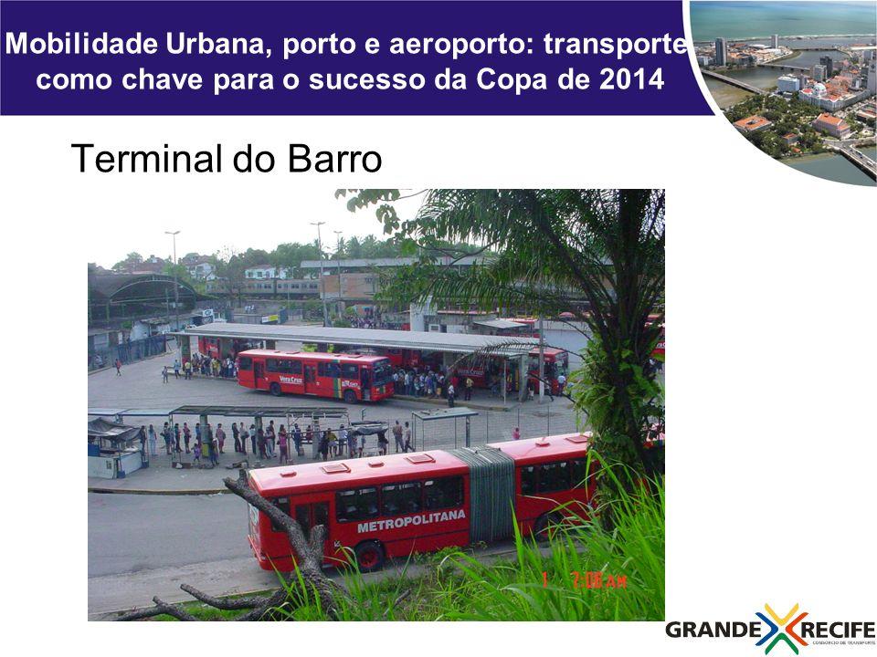 Mobilidade Urbana, porto e aeroporto: transporte como chave para o sucesso da Copa de 2014 Terminal do Barro