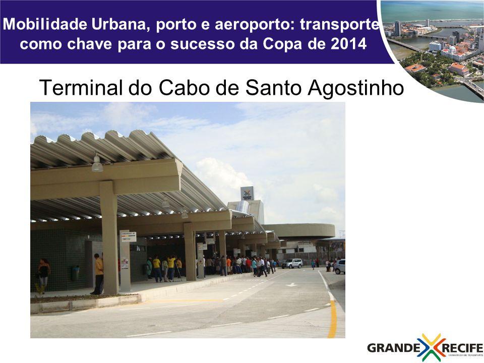 Mobilidade Urbana, porto e aeroporto: transporte como chave para o sucesso da Copa de 2014 Terminal do Cabo de Santo Agostinho